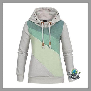 Womens Casual Hooded Pullover Sweatshirt (WA) - Green / L - Hoodies