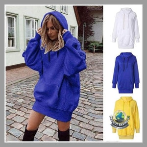 Womens Long Sleeve Hooded Sweatshirt (USO) - Hoodies
