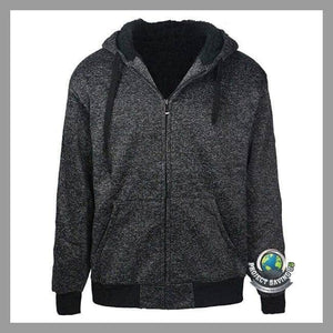 Mens Hooded Long Sleeve Winter Jacket (CH) - Black / L - Jackets