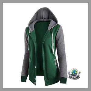 Womens Long Sleeve Hooded Sweatshirt Causal Coat/Jacket (FS) - Jackets