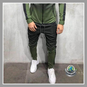 Mens Outdoor Drawstring Pants (FD) - Green / XL - Pants