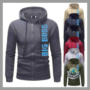Mens Long Sleeve Casual Hooded Sweatshirt (AC) - Hoodies