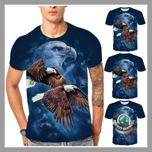Mens American Eagle Design Short Sleeved T-Shirt (PD) - T-Shirts