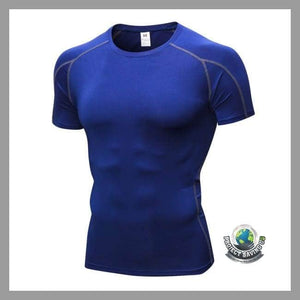 Mens Fitness Short Sleeve T-Shirt (WW) - Navy / L - T-Shirts