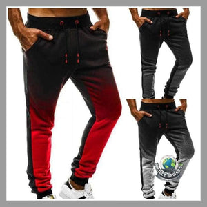 Mens Fitness Casual Loose Sweatpants Drawstring Pants (AC) - Pants