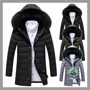Mens Autumn Winter Slim Long Trench Zipper Jacket (FD) - Jackets