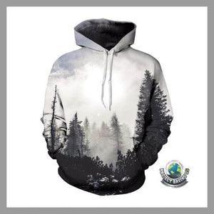 Men/Women 3d Trees Hooded/Pullover/Sweatshirt (PT) - Hoodies