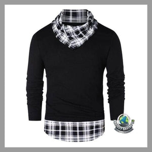 Mens Casual Long Sleeve Shirt (AF) - Black / L - Shirts