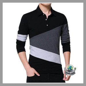 Mens Casual Long Sleeved Shirt (FH) - Black / L - Shirts