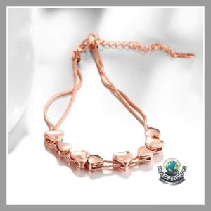 Womens 18K Rose Gold Filled Bracelet (PD) - Bracelets