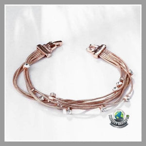 Women s 18K Rose Gold Wrap Bracelet with Swarovski Elements (AC) - Bracelets