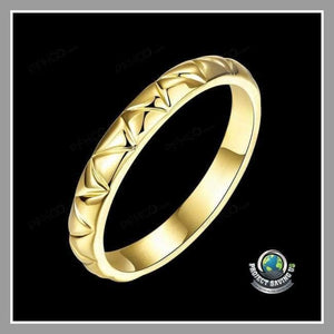 Womens Laser Cut 18K Gold Ring (FS) - Rings