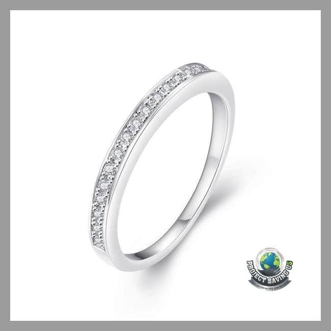 81d53a48b ... Womens 18K White Gold Ring with Swarovski Elements (CH) - Rings