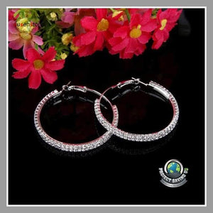 Womens Double Circle Earrings (CH) - Earrings