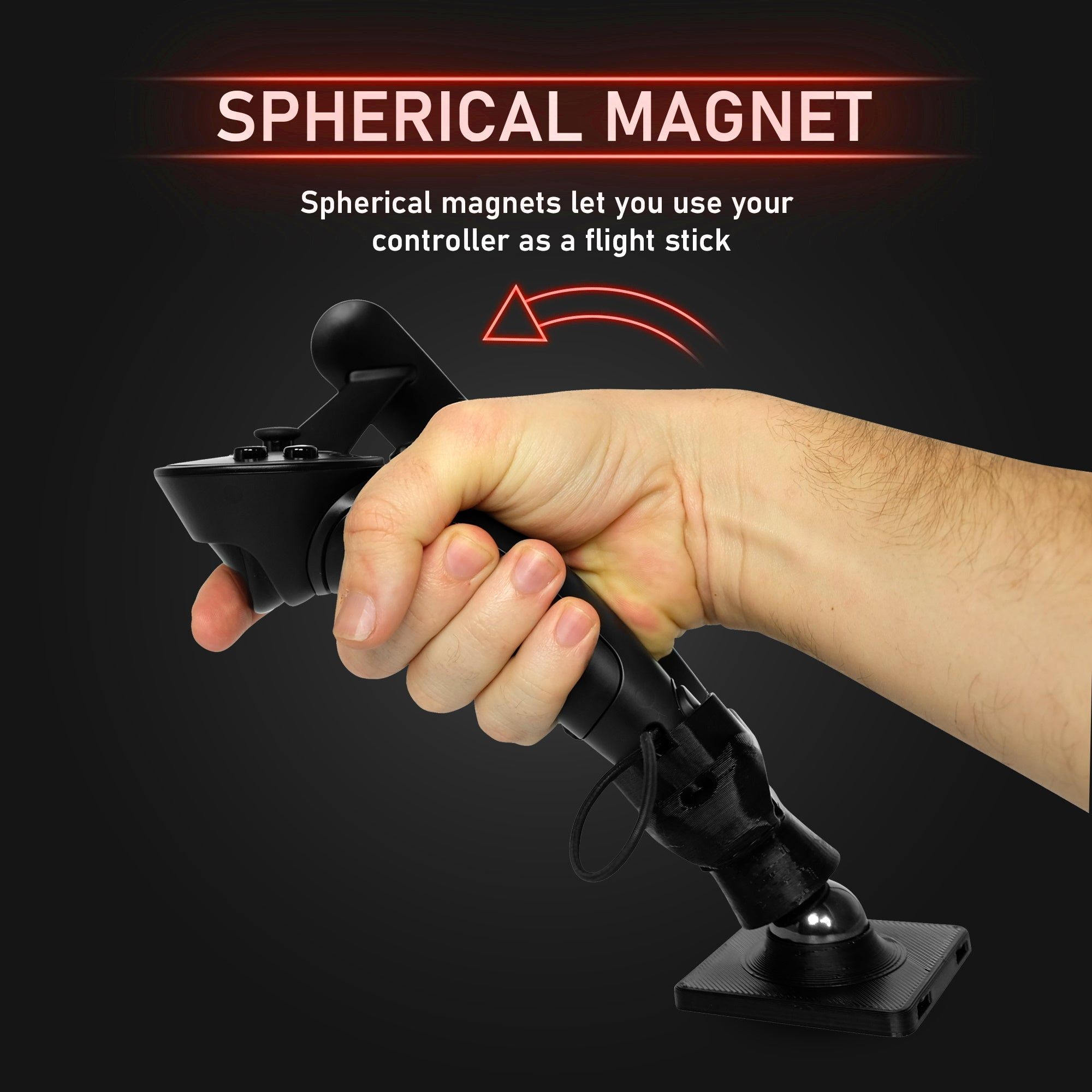 Advanced Flight Stick - Magnetic HOTAS Joystick Adapter for the Valve Index