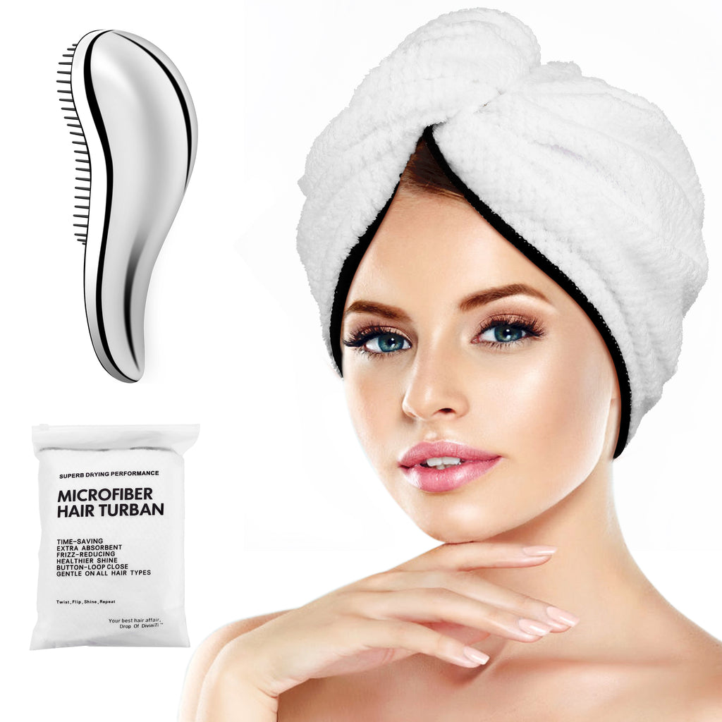 Microfiber Hair Towel Wrap Turban