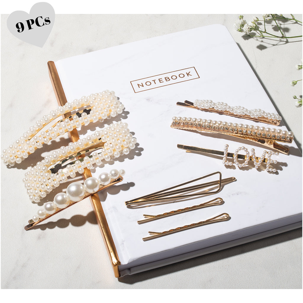 Pearl Hair Clip - 9 PCS Hair Accessories for Women