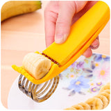 Banana Slicer / Cutter, ABS + Stainless Steel Fruit Salad Peeler Cutter Kitchen Tools For banana, hotdog, strawberry, cucumber