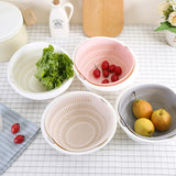 DoubleDrain - 2-in-1 Drain Basket For Cleaning, Washing, Mixing Fruits and Vegetables