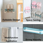 Slippers Rack - Bathroom Slippers Rack Wall Mounted Self Adhesive