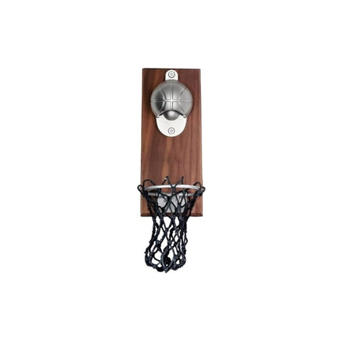 Basketball Opener - Magnetic mountable opener that can automatically collect the caps