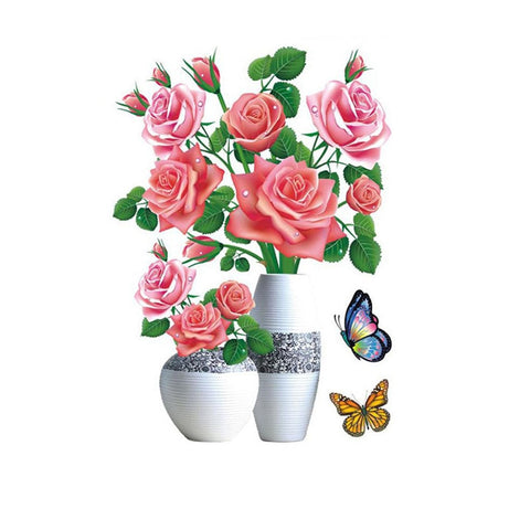 3D Flowers Sticker - Decorative Flower Wall Stickers