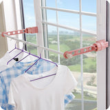 Easy Hanger -portable hanger or drying rack that easily mount on any window frame or door