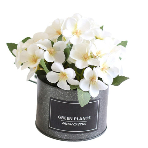 Potted Begonia Artificial Flower - Perfect for Home and Office Decoration