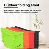 File Chair - Multi-functional Folding Stool 3-in-1 Design Chair Shopping Basket Document Bag