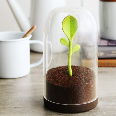 JarLeaves - Cute Design Container With Tea Leaves Spoon
