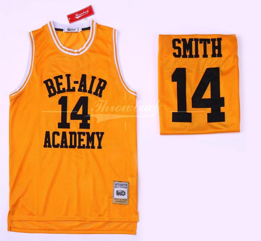 promo code d7f3a 95bf4 Custom Made Fresh Prince of Bel-Air Stitched #14 Will Smith Jersey Bel-Air  Academy Episode Version