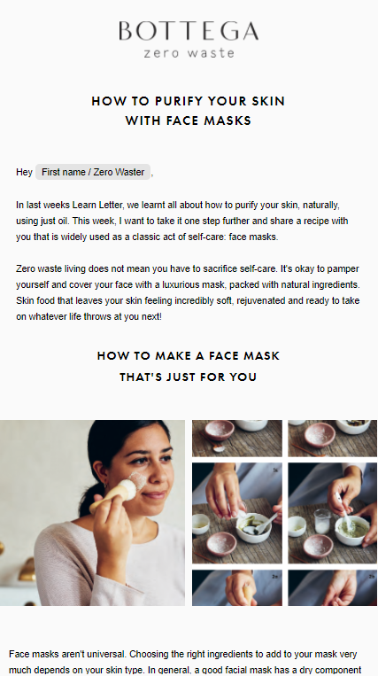Sign up to the newsletter: the learn letters | Bottega Zero Waste