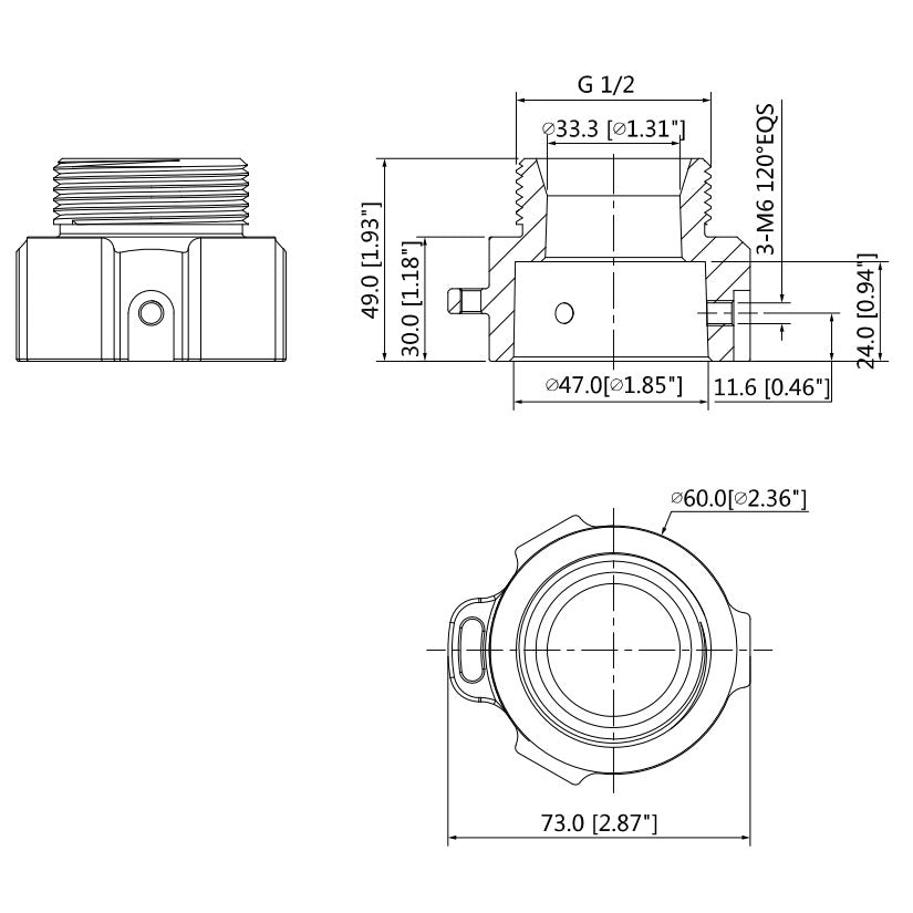 G1 1/2 Thread to Flanged Camera Adapter