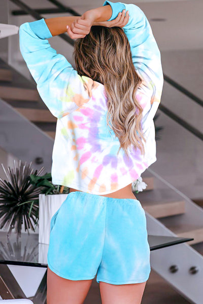 Blue Tie Dye Short and Top Set