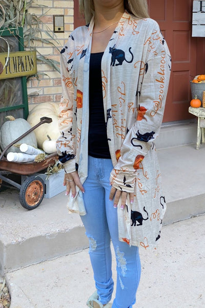 Witch Craft Halloween Cardigan