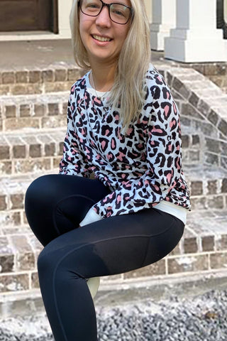Leopard Print Relaxed Fit Sweatshirt