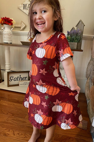 Pumpkin Girls Twirl Dress