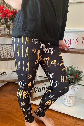 A Falala Christmas Leggings
