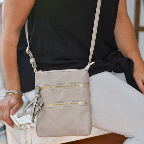 Ash Grey Cross Body Bag