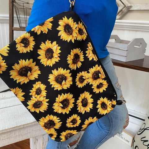 Large Sunflower Clutch Purse