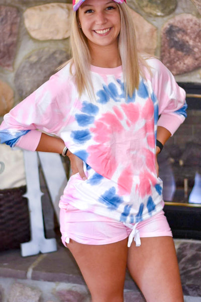 Pink Tie Dye Short and Top Set