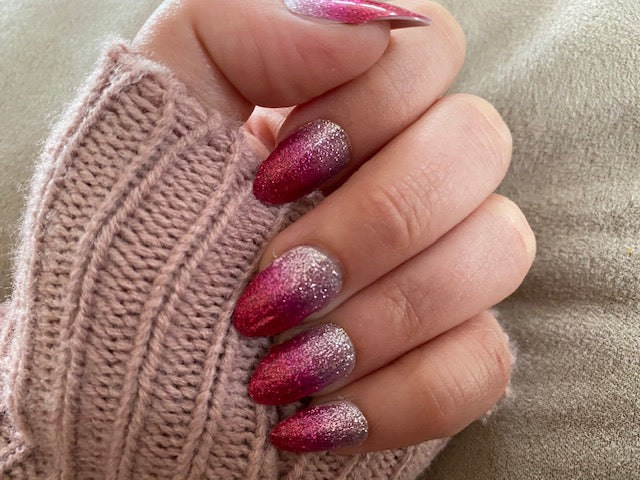 Pink Sparkle Nail Strip