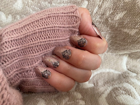 Nude Sparkle Demask Nail Strips