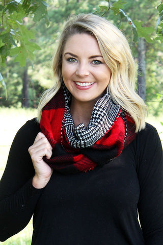 Rustic Cabin Buffalo Plaid Scarf
