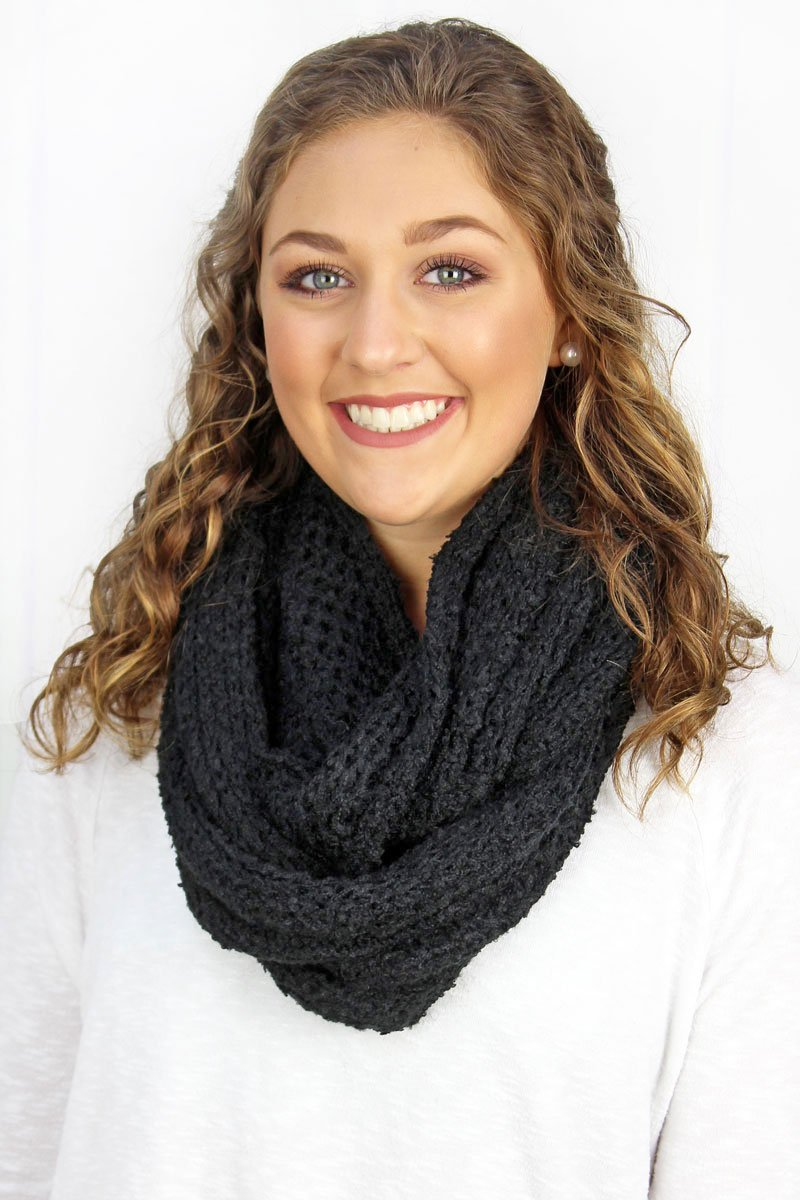 Warm Embrace Black Infinity Scarf