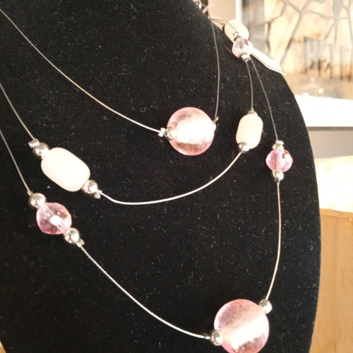 Pink multi necklace
