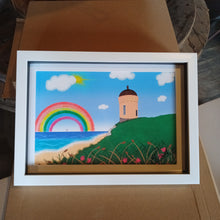 Load image into Gallery viewer, Rainbow at Mussenden, Framed Digital Art