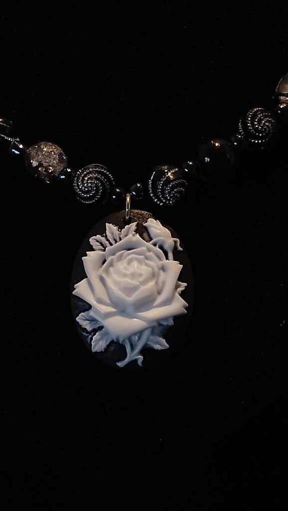 Elegant Rose Necklace