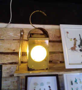 Vintage Road workers Lamp