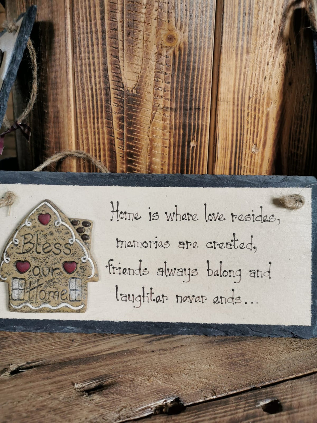 Home Is Where Love Resides Slate